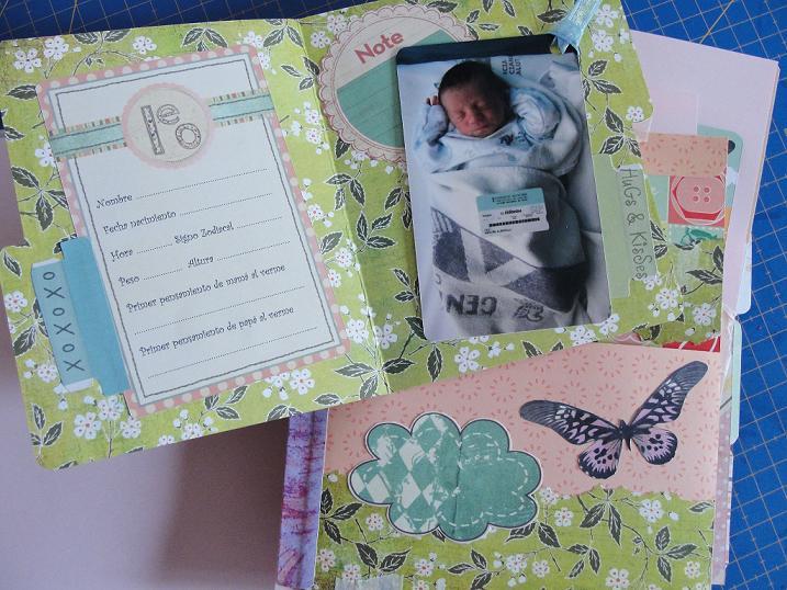 Decoraci n de lbumes de fotos para beb s imagui - Decorar album de fotos por dentro ...