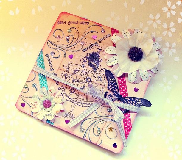 Enviando amor y cariño, a través de una tarjeta hecha a mano ...