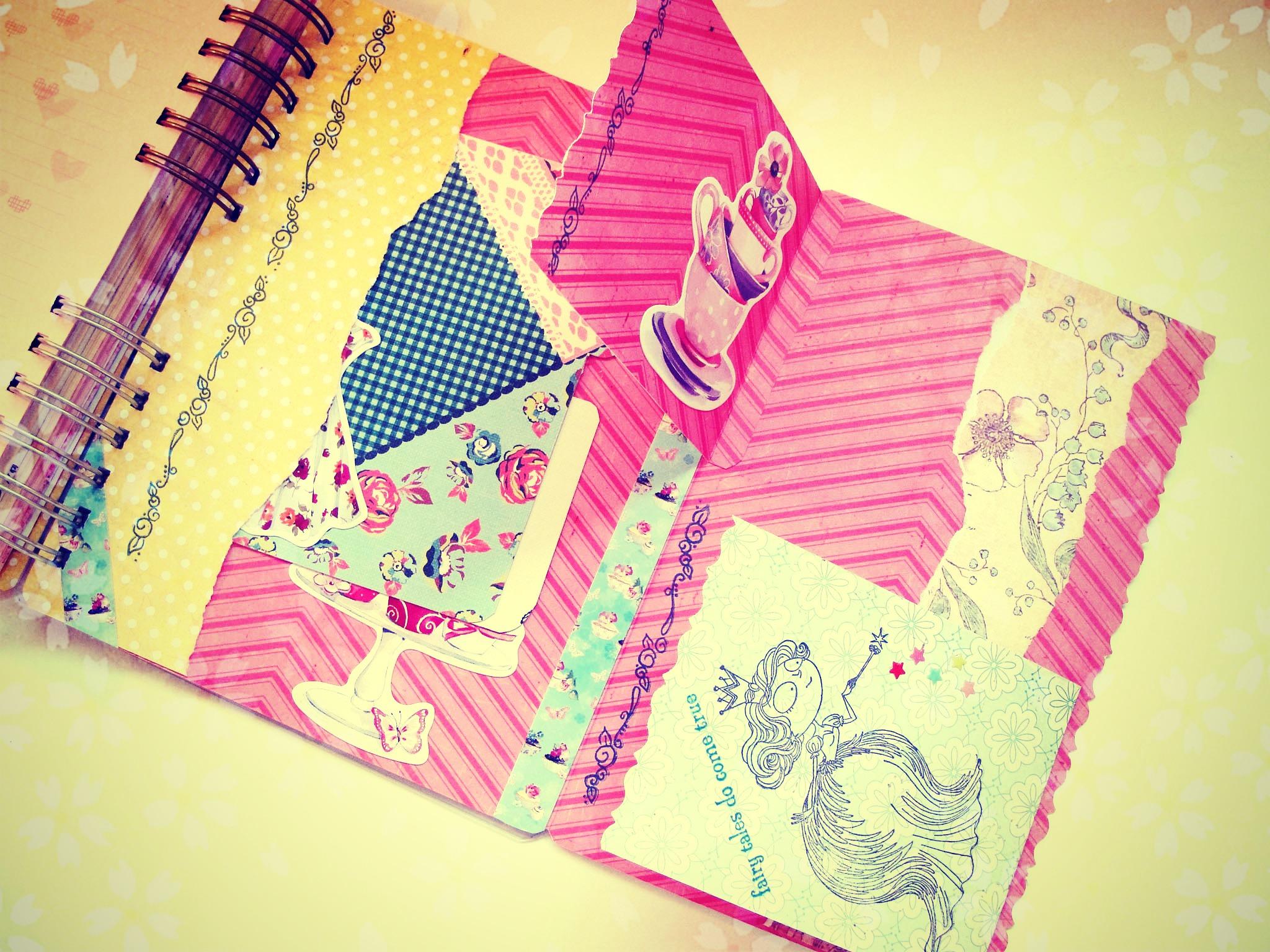 Como adornar un cuaderno por dentro imagui - Como decorar cuadernos ...