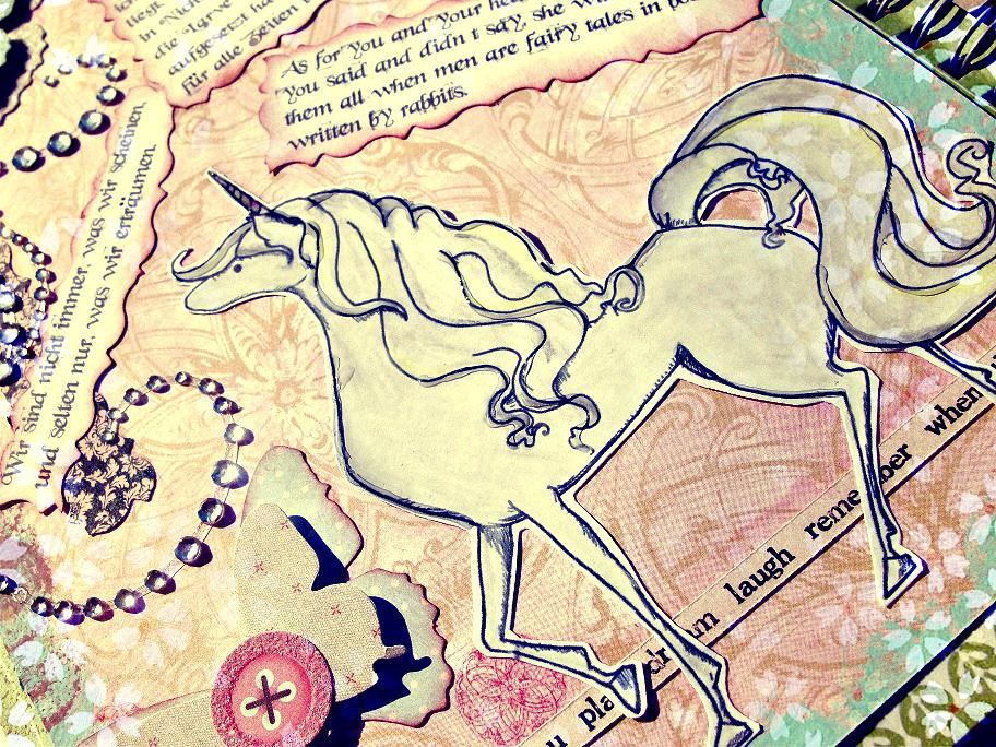 Libreta De Dibujo Mandala Unicornio Papel Blanco: Cinderella's Scrap Room
