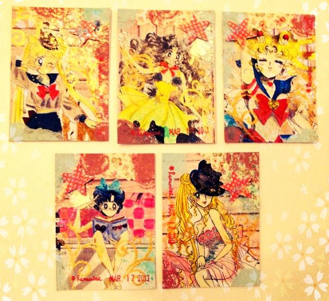 ATC's Cinderella - Técnicas 1 _Sailor Moon-1