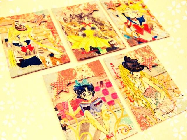ATC's Cinderella - Técnicas 1 _Sailor Moon-2