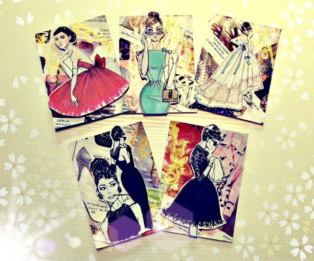 ATCs Moda - made by Cinderella 1