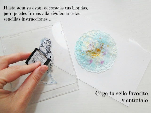 Tutorial Decoración Blondas Cinderella 10