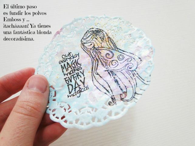 Tutorial Decoración Blondas Cinderella 14