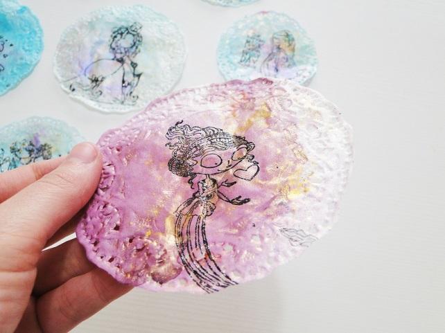 Tutorial Decoración Blondas Cinderella 19