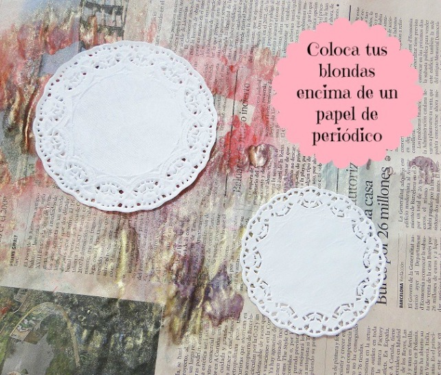 Tutorial Decoración Blondas Cinderella 2