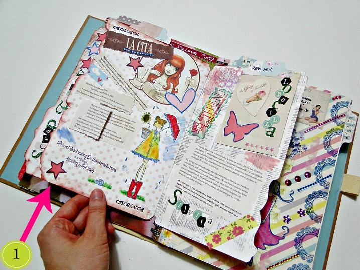 Cuadernos decorados con hojas de colores por dentro imagui - Decorar album de fotos por dentro ...