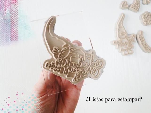 Tutorial Cinderella cómo montar sellos de goma 12