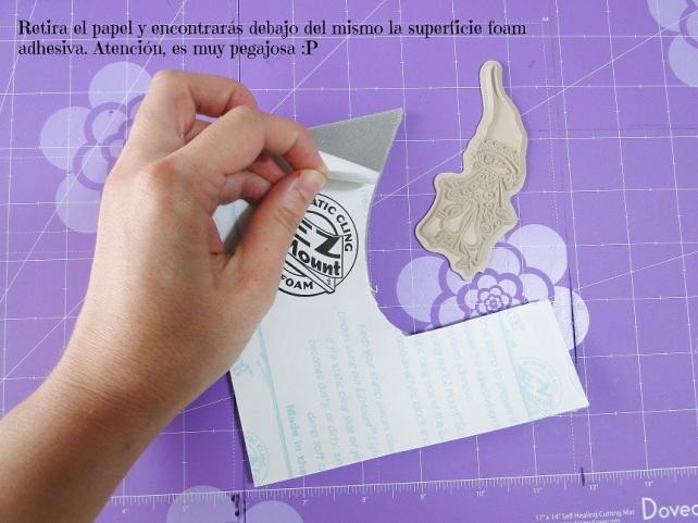 Tutorial Cinderella cómo montar sellos de goma 6