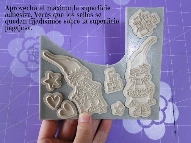 Tutorial Cinderella cómo montar sellos de goma 7