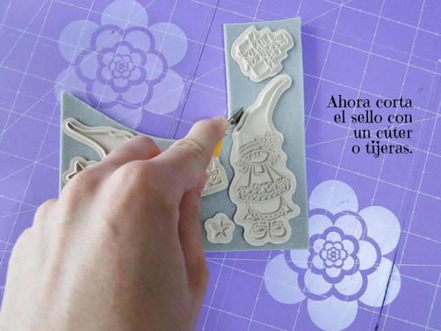 Tutorial Cinderella cómo montar sellos de goma 8