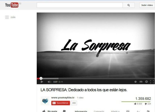 Vídeo que podréis visualizar en Youtube: http://www.youtube.com/watch?v=qxu5W4bj4I8