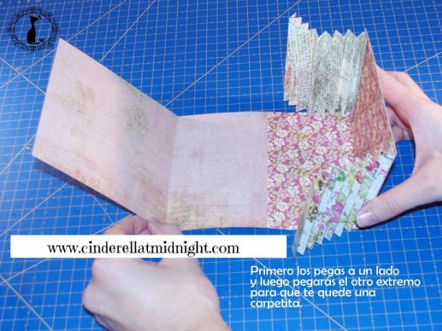 Carpeta con separadores - Tutorial paso a paso Cinderella 12