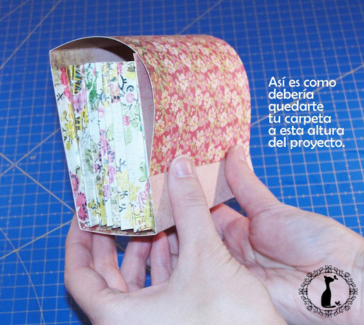 Carpeta con separadores - Tutorial paso a paso Cinderella 13
