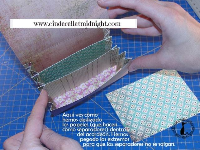 Carpeta con separadores - Tutorial paso a paso Cinderella 17
