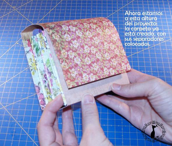 Carpeta con separadores - Tutorial paso a paso Cinderella 20