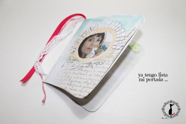 Tutorial paso a paso Mini album taza café - Cinderella 11