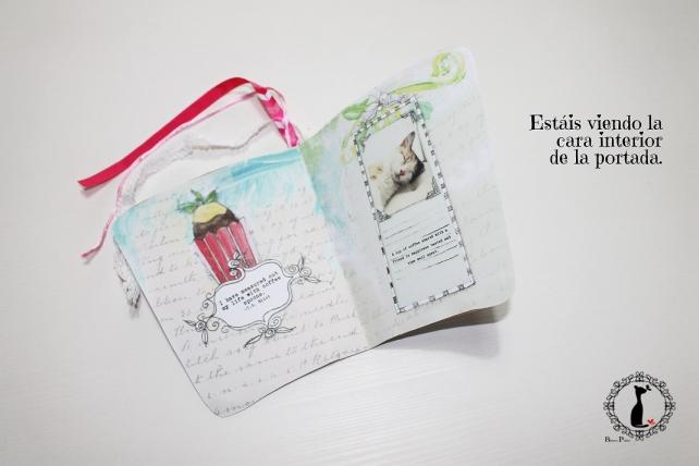 Tutorial paso a paso Mini album taza café - Cinderella 13