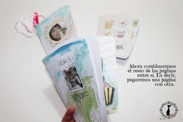 Tutorial paso a paso Mini album taza café - Cinderella 14