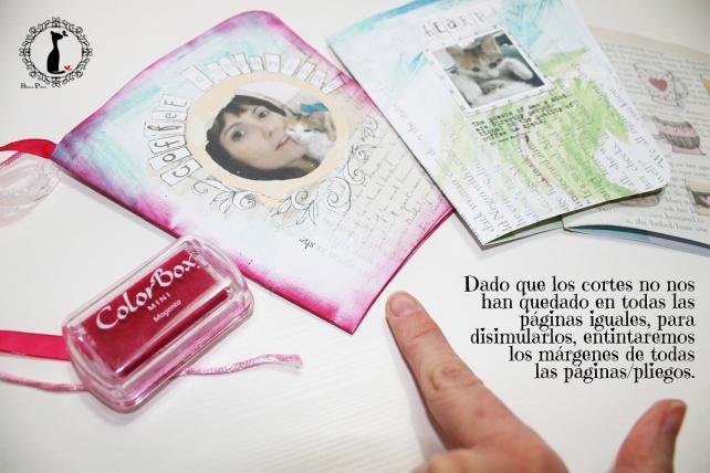 Tutorial paso a paso Mini album taza café - Cinderella 15