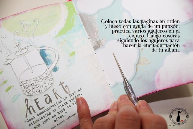 Tutorial paso a paso Mini album taza café - Cinderella 17