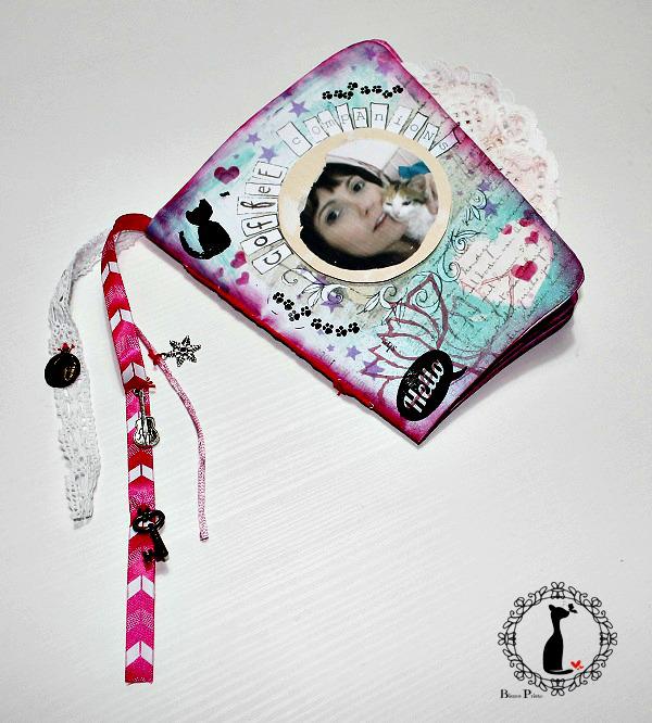 Tutorial paso a paso Mini album taza café - Cinderella 23
