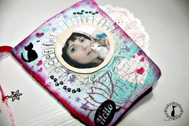 Tutorial paso a paso Mini album taza café - Cinderella 24