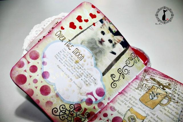 Tutorial paso a paso Mini album taza café - Cinderella 28