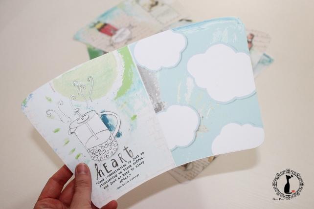 Tutorial paso a paso Mini album taza café - Cinderella 3