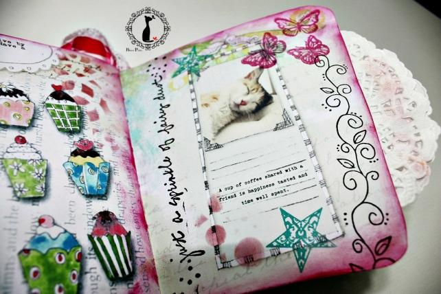 Tutorial paso a paso Mini album taza café - Cinderella 32