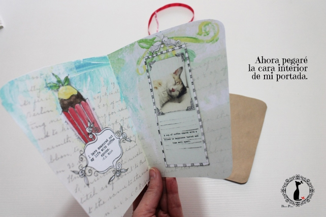 Tutorial paso a paso Mini album taza café - Cinderella 9