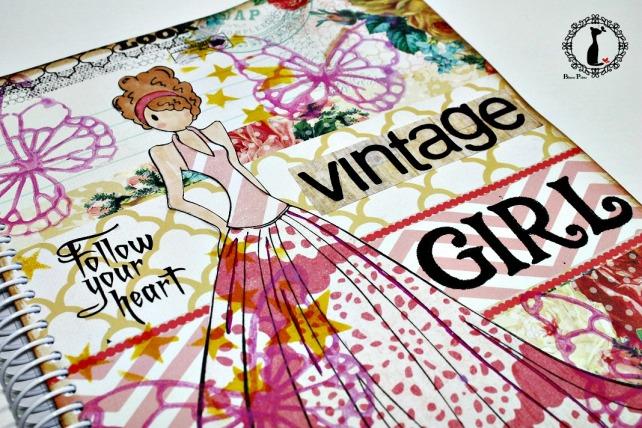 Agenda Scrapbook Vintage Girl 2