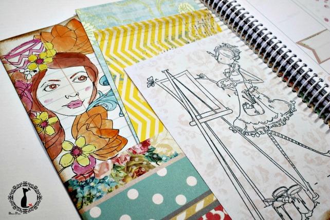 Agenda Scrapbook Vintage Girl 4