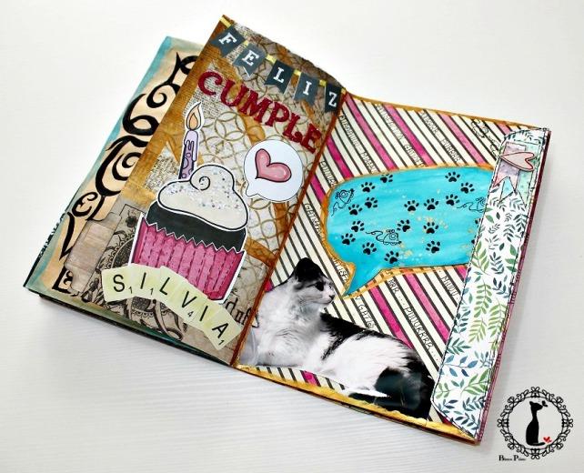 Tutorial 8 - Album Cuaderno MixedMedia Cinderella 32