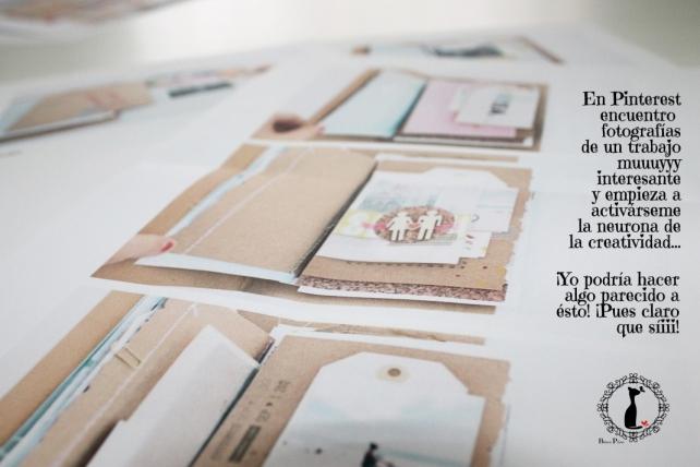 Tutorial Cinderella - Álbum Cuaderno Mixed Media 2
