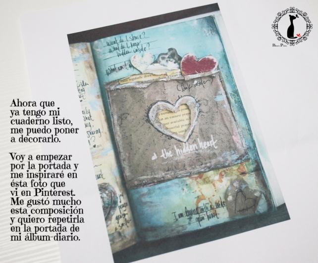 Tutorial Cinderella - Álbum Cuaderno Mixed Media 21