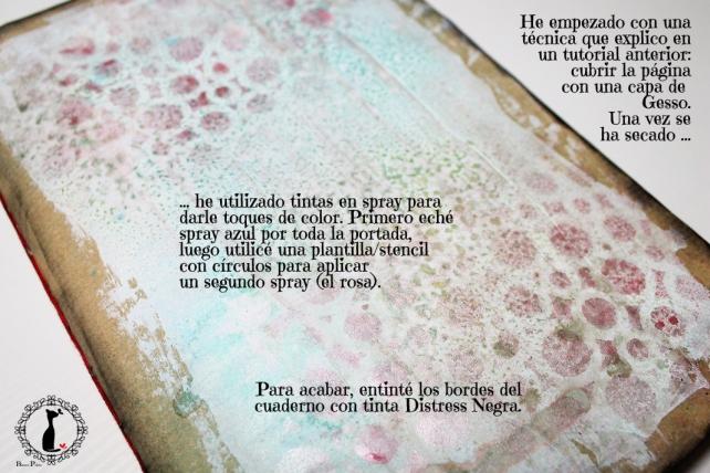 Tutorial Cinderella - Álbum Cuaderno Mixed Media 22