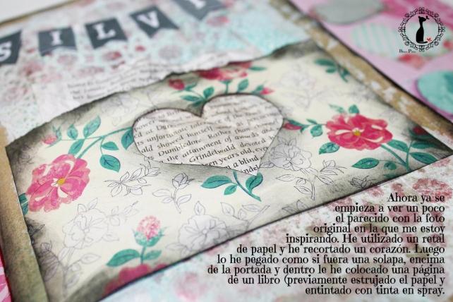 Tutorial Cinderella - Álbum Cuaderno Mixed Media 24