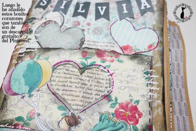 Tutorial Cinderella - Álbum Cuaderno Mixed Media 25