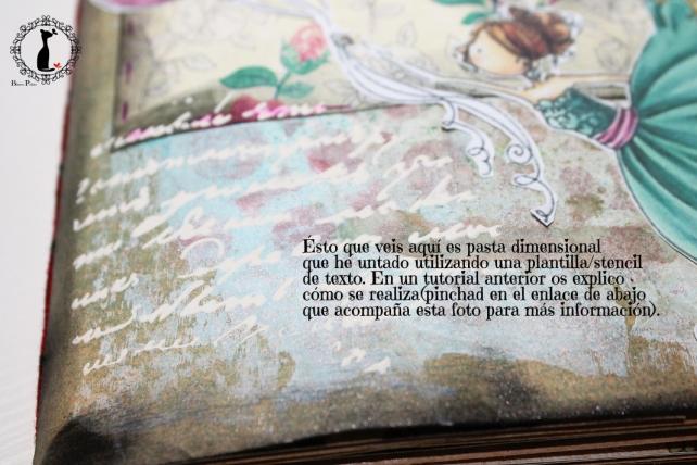 Tutorial Cinderella - Álbum Cuaderno Mixed Media 26