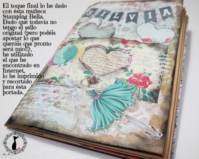 Tutorial Cinderella - Álbum Cuaderno Mixed Media 27