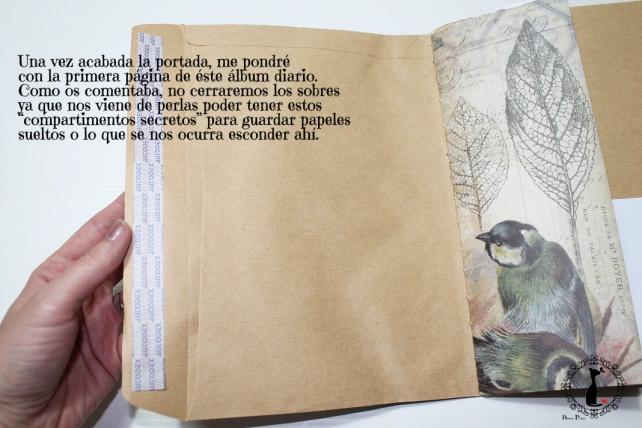 Tutorial Cinderella - Álbum Cuaderno Mixed Media 28