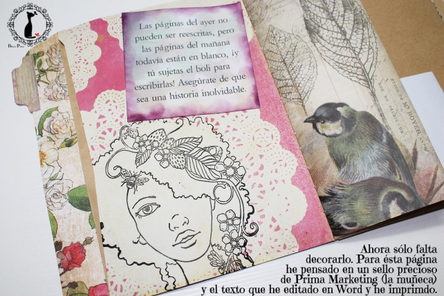Tutorial Cinderella - Álbum Cuaderno Mixed Media 35