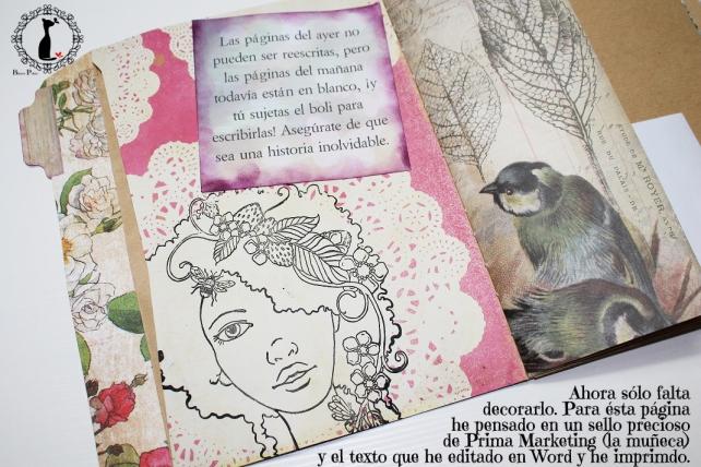 Tutorial Cinderella - Álbum Cuaderno Mixed Media 35