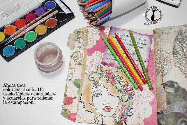 Tutorial Cinderella - Álbum Cuaderno Mixed Media 36