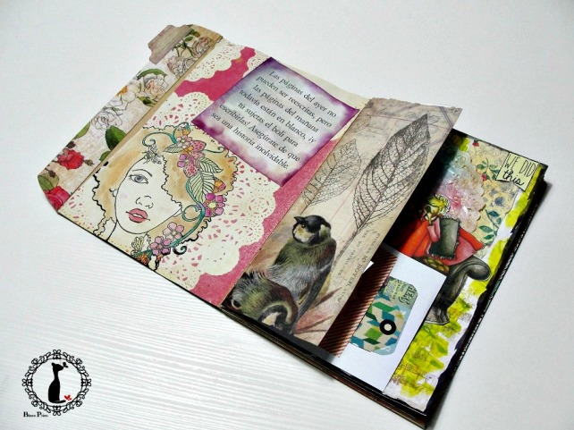 Tutorial Cinderella - Álbum Cuaderno Mixed Media 37