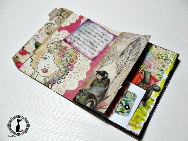 Tutorial Cinderella - Álbum Cuaderno Mixed Media 37