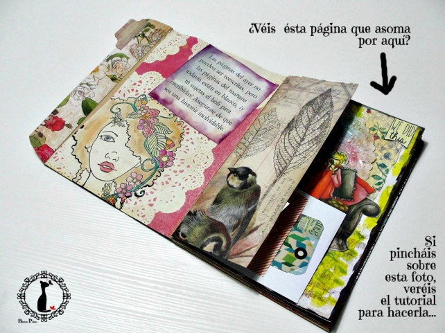 Tutorial Cinderella - Álbum Cuaderno Mixed Media 38