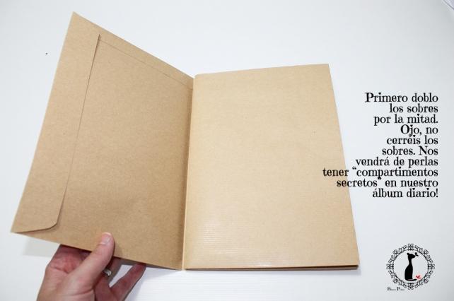 Tutorial Cinderella - Álbum Cuaderno Mixed Media 6